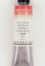 France Sennelier, Aquarelle Watercolor Paint, Red Brown, 405,10ml Tube, Series 3 (Discontinued Color)