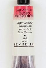 France Sennelier, Aquarelle Watercolor Paint, Crimson Lake, 688,10ml Tube, Series 3