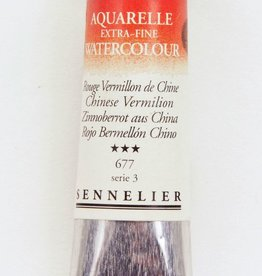 France Sennelier, Aquarelle Watercolor Paint, Chinese Vermilion Red, 677,10ml Tube, Series 3 (Discontinued Color)
