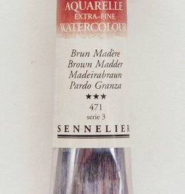France Sennelier, Aquarelle Watercolor Paint, Brown Madder, 471,10ml Tube, Series 3 (Discontinued Color)
