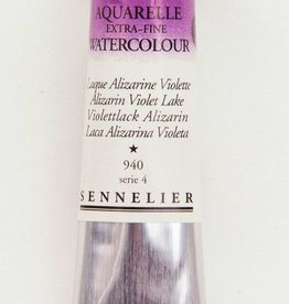 France Sennelier, Aquarelle Watercolor Paint, Alizarin Violet Lake, 940,10ml Tube, Series 4 (Discontinued Color)