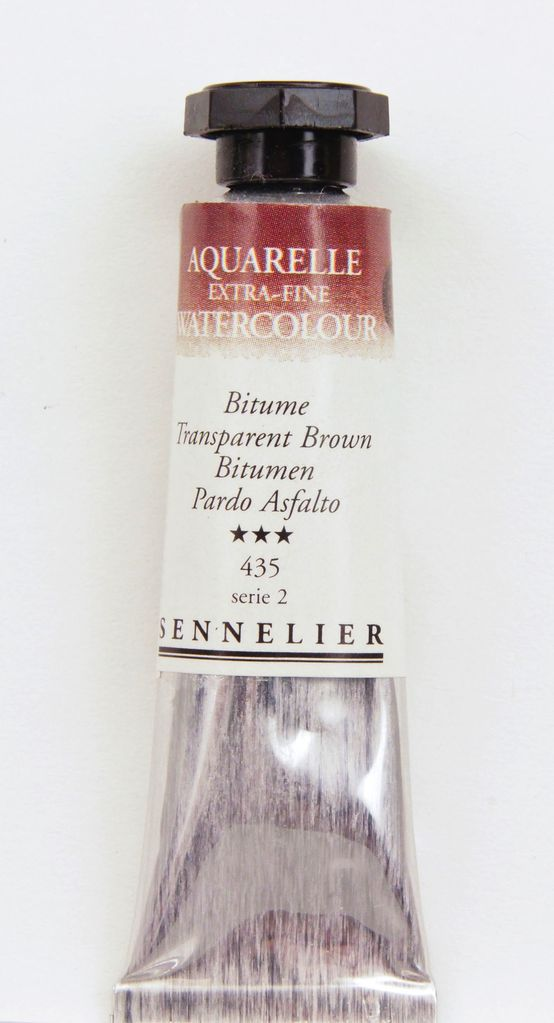 France Sennelier, Aquarelle Watercolor Paint, Transparent Brown, 435,10ml Tube, Series 2