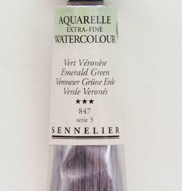 France Sennelier, Aquarelle Watercolor Paint, Emerald Green, 847,10ml Tube, Series 3