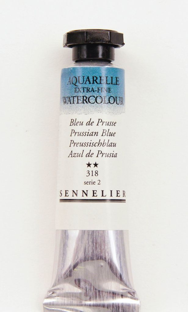France Sennelier, Aquarelle Watercolor Paint, Prussian Blue, 318,10ml Tube, Series 2