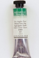France Sennelier, Aquarelle Watercolor Paint, Phthalo Green Deep, 807,10ml Tube, Series 2