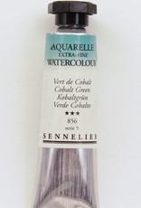 France Sennelier, Aquarelle Watercolor Paint, Cobalt Green, 856,10ml Tube, Series 5