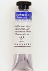 France Sennelier, Aquarelle Watercolor Paint, Ultramarine Deep, 315,10ml Tube, Series 2