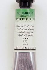 France Sennelier, Aquarelle Watercolor Paint, Cadmium Green, 823,10ml Tube, Series 4