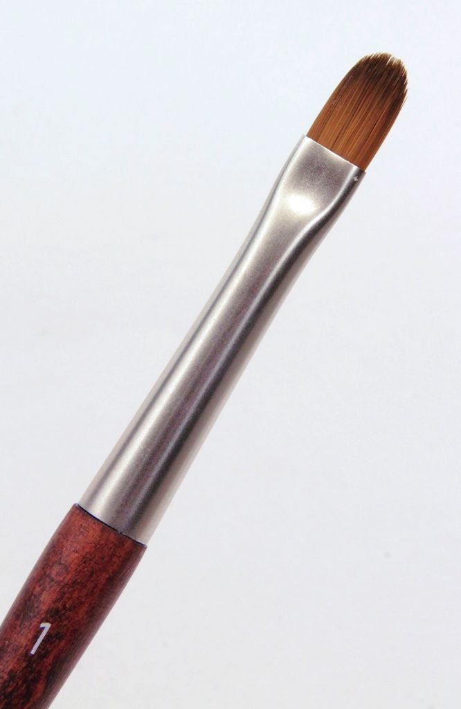 France Raphael, Mini Precision Filbert, Size 1, Watercolor Brush