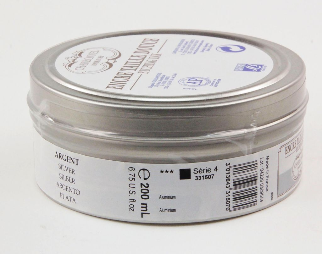 France Charbonnel, Etching Ink, Silver, Series 4, 200ml, Can