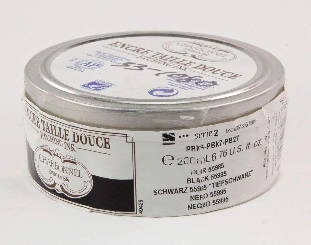 France Charbonnel, Etching Ink, Very Dense Black 55985, Series 2, 200ml, Can