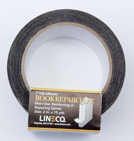 """Book Repair Tape, Black, 2"""" x 15 yds Self-Adhesive"""
