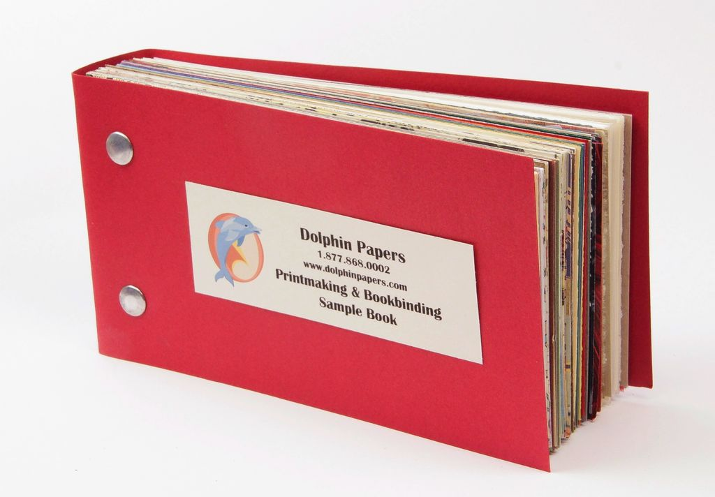 "Dolphin Printmaking & Bookbinding, Sample Book 6.5"" x 3.5"""