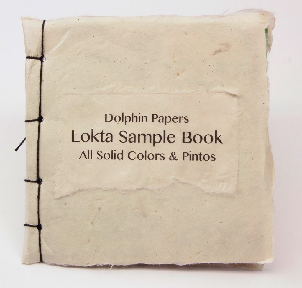 "Lokta Sample Book, All Solid Colors & Pintos, 5"" x 5"""