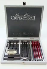 Austria Cretacolor, Silver Graphite Box, 17 piece drawing set