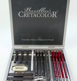 Cretacolor, Silver Graphite Box, 17 piece drawing set