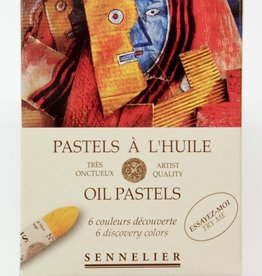 France Sennelier, Discovery Oil Pastel Cardboard Set of 6