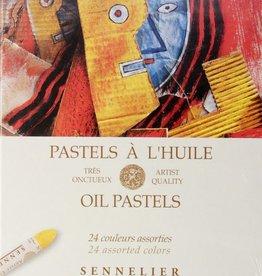 France Sennelier, Assorted Oil Pastel Cardboard Set of 24