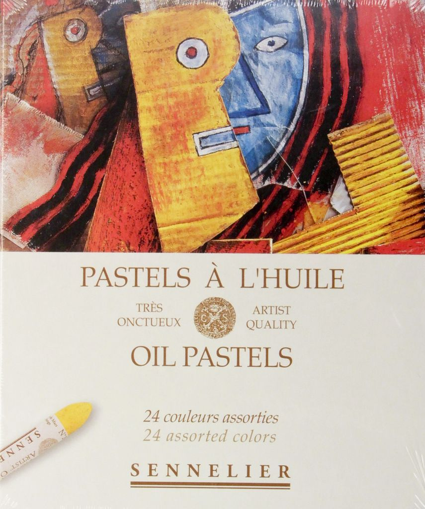 France Sennelier, Assorted Oil Pastel Cardboard Set of 24
