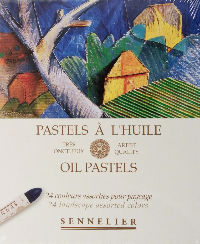 France Sennelier, Landscape Oil Pastel Cardboard Set of 24