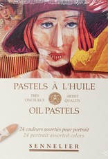 France Sennelier, Portrait Oil Pastel Cardboard Set of 24