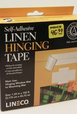 "Domestic Linen Hinging Cloth Tape, Self Adhesive, 1.25"" x 150'"
