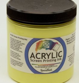 Acrylic Screen Printing Ink,  Yellow, 8oz