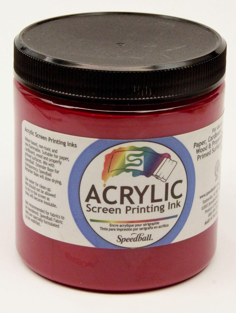 Acrylic Screen Printing Ink, Magenta, 8oz