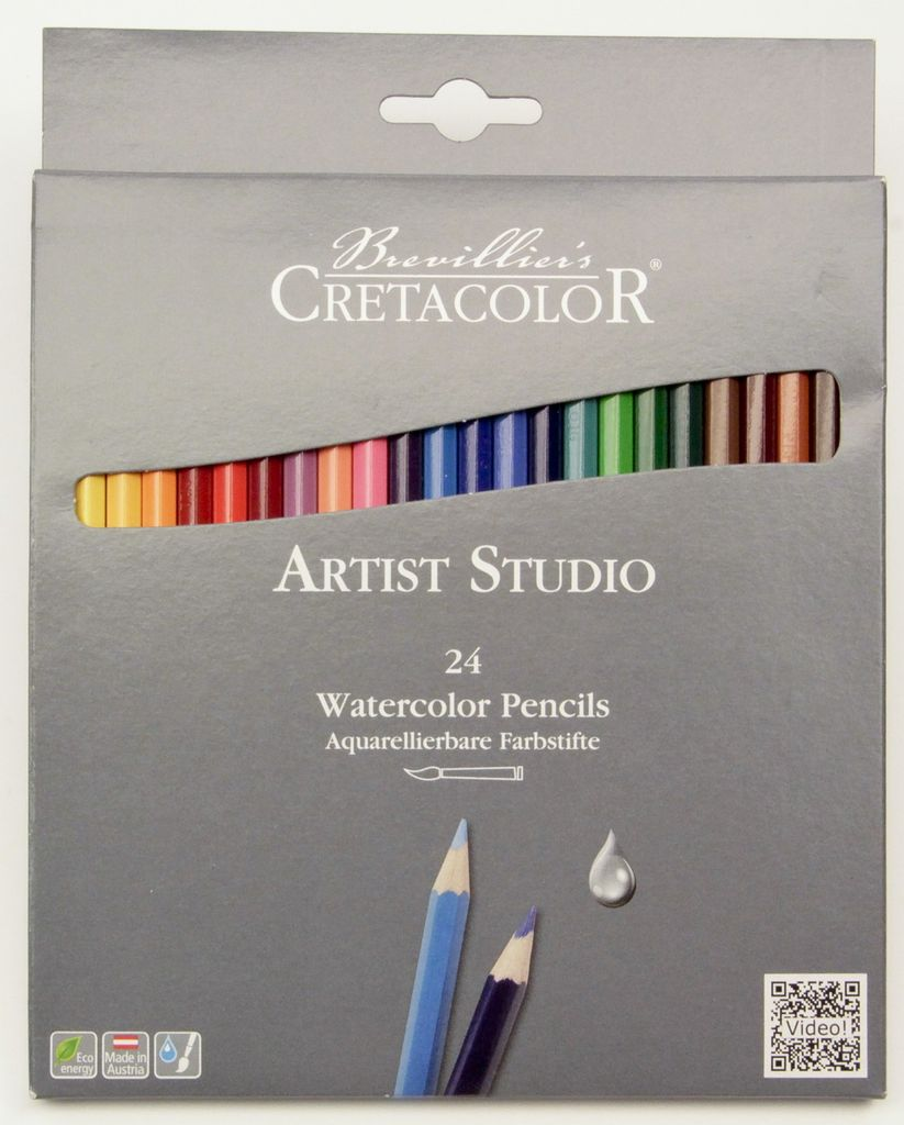 Germany Cretacolor, Artist Studio Watercolor Pencils, 24 Pencil Set