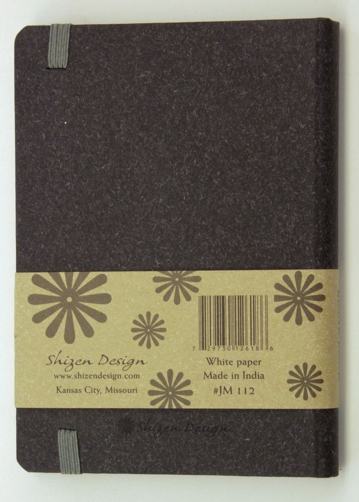 """India Journal with Black Cover, 4"""" x 6"""""""