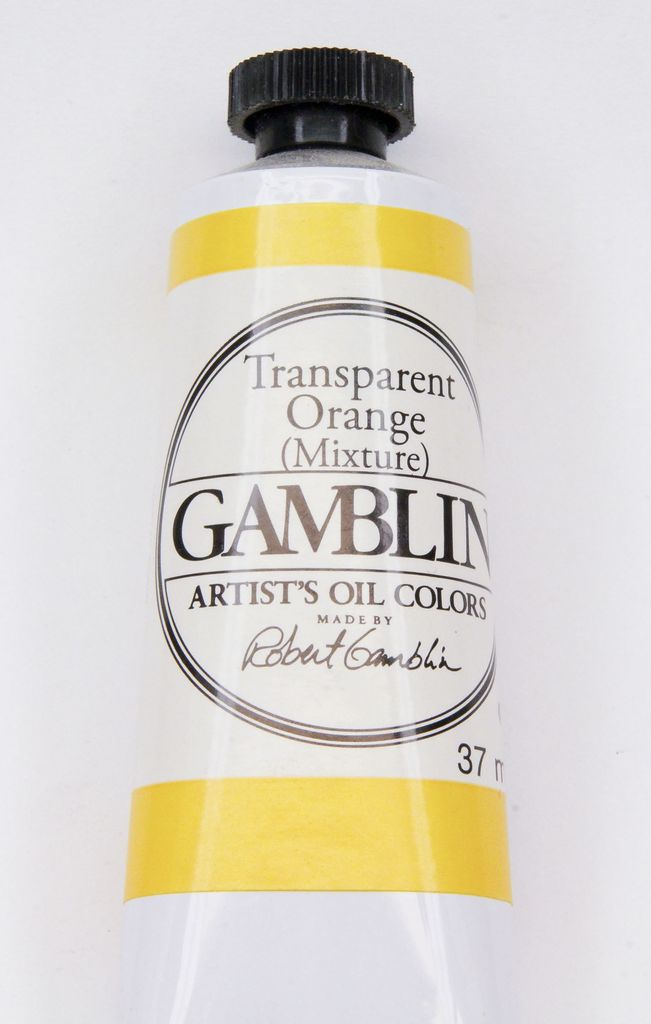 Domestic Gamblin Oil Paint, Transparent Orange (mixture), Series 3, Tube 37ml<br /> List Price: 17.95