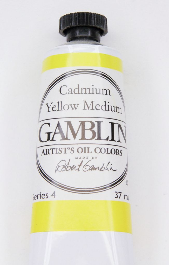 Domestic Gamblin Oil Paint, Cadmium Yellow Medium, Series 4, Tube 37ml<br /> List Price: 24.95