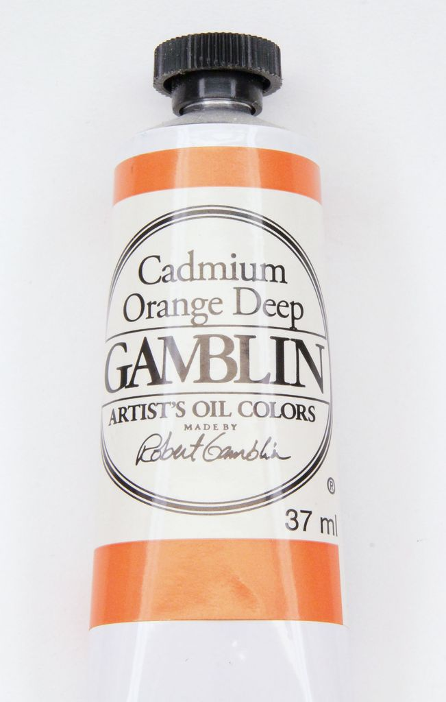 Domestic Gamblin Oil Paint, Cadmium Orange Deep, Series 4, Tube 37ml<br /> List Price: 24.95