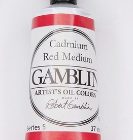 Domestic Gamblin Oil Paint, Cadmium Red Medium, Series 4, Tube 37ml<br /> List Price: 24.95
