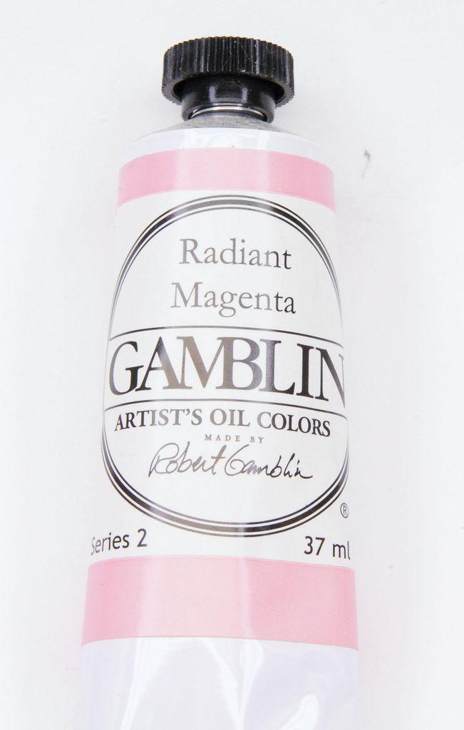 Domestic Gamblin Oil Paint, Radiant Magenta, Series 2, Tube 37ml<br /> List Price: 12.95