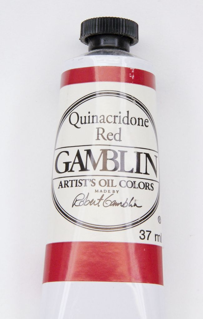 Domestic Gamblin Oil Paint, Quinacridone Red, Series 3, Tube 37ml<br /> List Price: 17.95