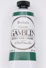 Domestic Gamblin Oil Paint, Phthalo Green, Series 2, Tube 37ml<br /> List Price: 12.95