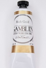Domestic Gamblin Oil Paint, Rich Gold, Series 4, Tube 37ml<br /> List Price: 24.95