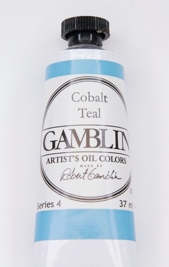 Domestic Gamblin Oil Paint, Cobalt Teal, Series 4, Tube 37ml<br /> List Price: 24.95