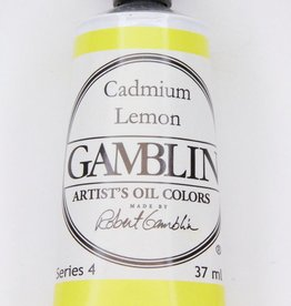 Domestic Gamblin Oil Paint, Cadmium Lemon, Series 4, Tube 37ml<br /> List Price: 24.95
