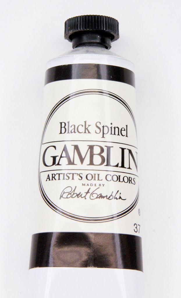 Domestic Gamblin Oil Paint, Black Spinel, Series 4, Tube 37ml<br /> List Price: 24.95