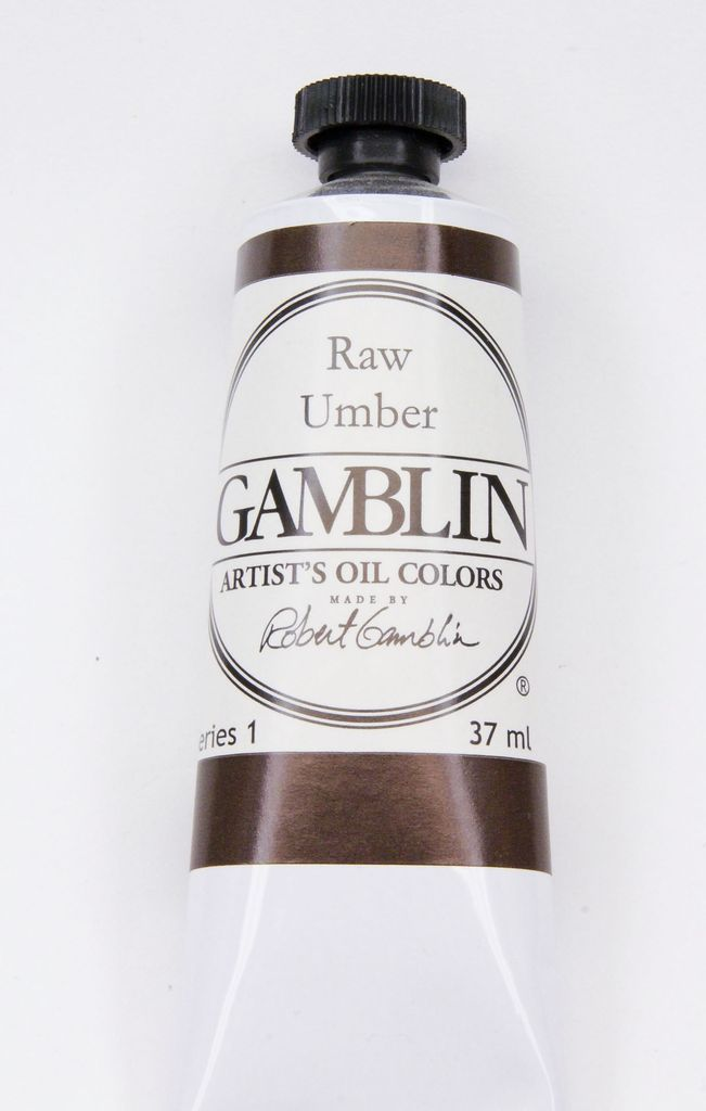 Domestic Gamblin Oil Paint, Raw Umber, Series 1, Tube 37ml<br /> List Price: $10.95
