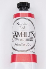 Domestic Gamblin Oil Paint, Napthol Red, Series 2, Tube 37ml<br /> List Price: 12.95