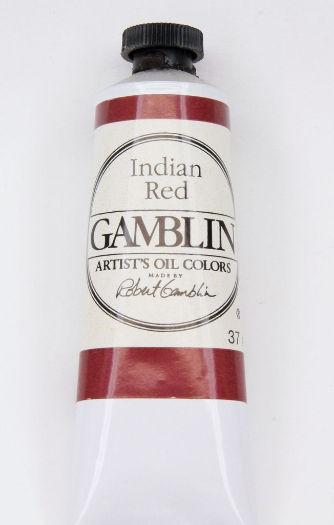 Domestic Gamblin Oil Paint, Indian Red, Series 1, Tube 37ml<br /> List Price: $10.95
