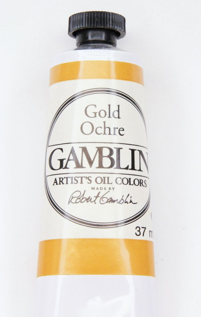 Domestic Gamblin Oil Paint, Gold Ochre, Series 2, Tube 37ml<br /> List Price: 12.95