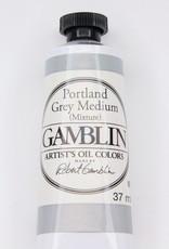 Domestic Gamblin Oil Paint, Portland Grey Medium, Series 2, Tube 37ml<br /> List Price: 12.95