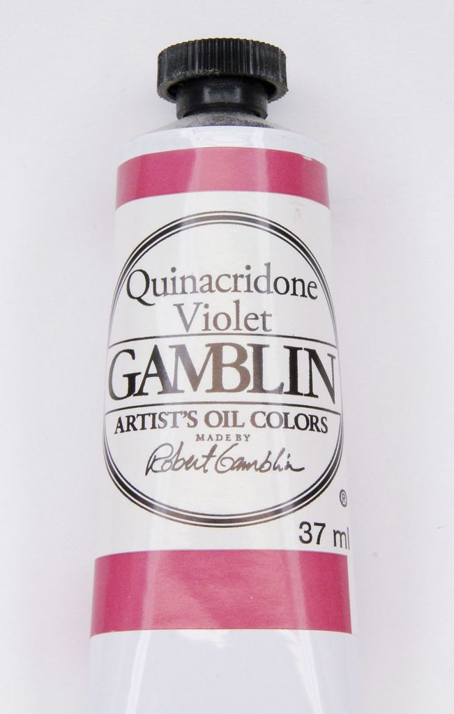 Domestic Gamblin Oil Paint, Quinacridone Violet, Series 3, Tube 37ml<br /> List Price: 17.95