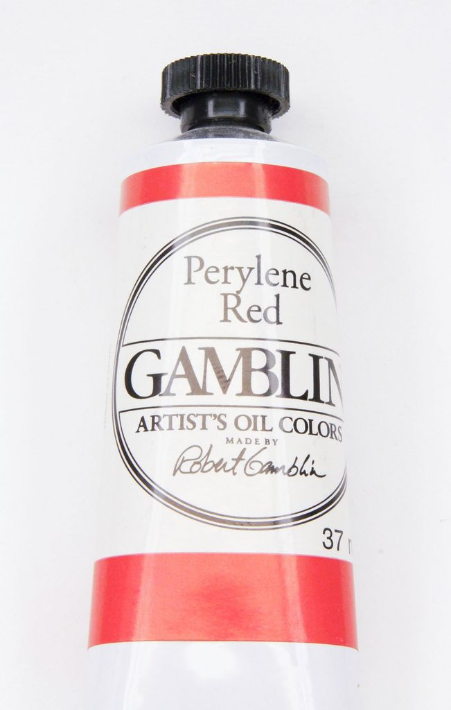 Domestic Gamblin Oil Paint, Perylene Red, Series 3, Tube 37ml<br /> List Price: 17.95