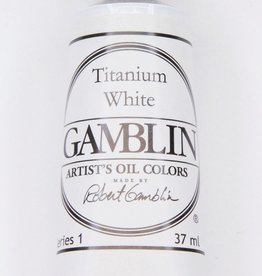 Domestic Gamblin Oil Paint, Titanium White, Series 1, Tube 37ml