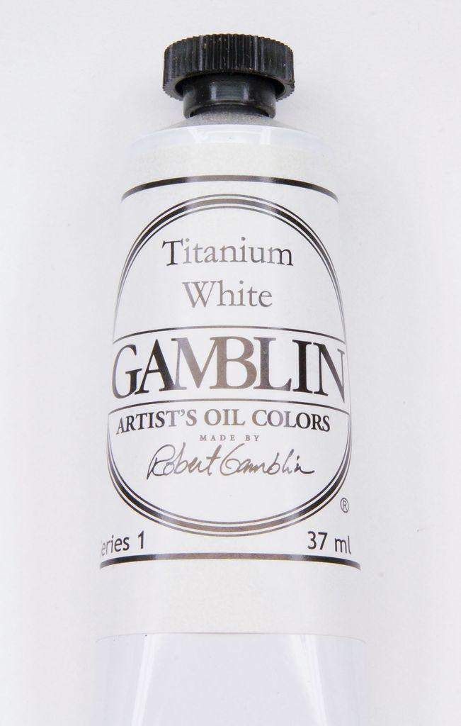 Domestic Gamblin Oil Paint, Titanium White, Series 1, Tube 37ml